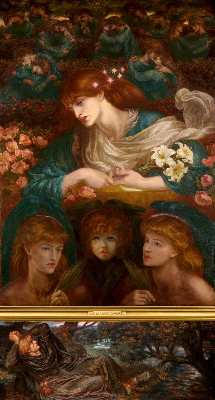 The Blessed Damozel door Dante Gabriel Rossetti (1871, 1878) [Publiek domein].