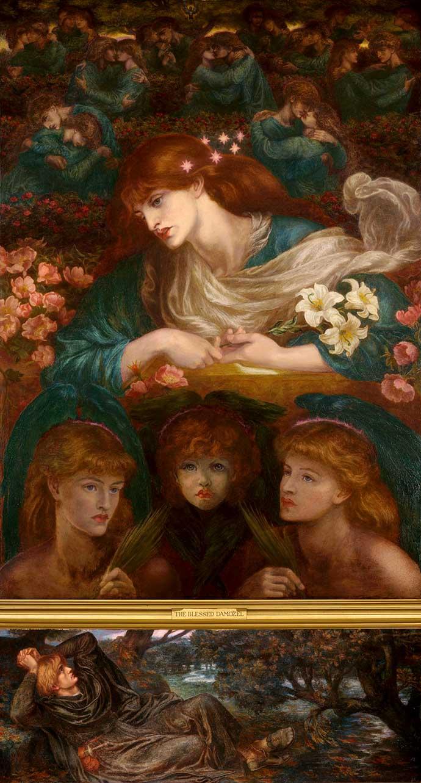 The Blessed Damozel door Dante Gabriel Rossetti (1871, 1878) [Publiek domein].