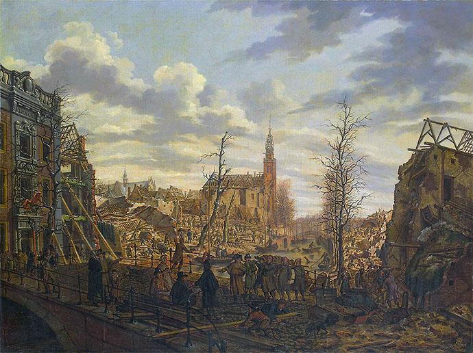 kruitramp Leiden 1807