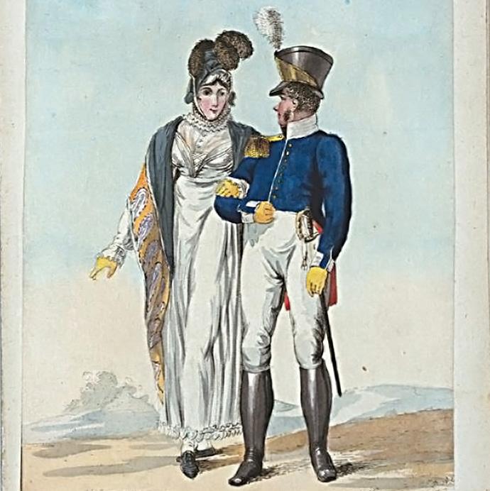 militair uit 1814 kapitein Nederlandse infanterie