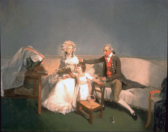 gezin 18e eeuw georgian