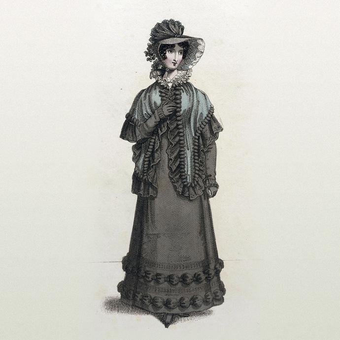 rouwkleding 19e eeuw 1821
