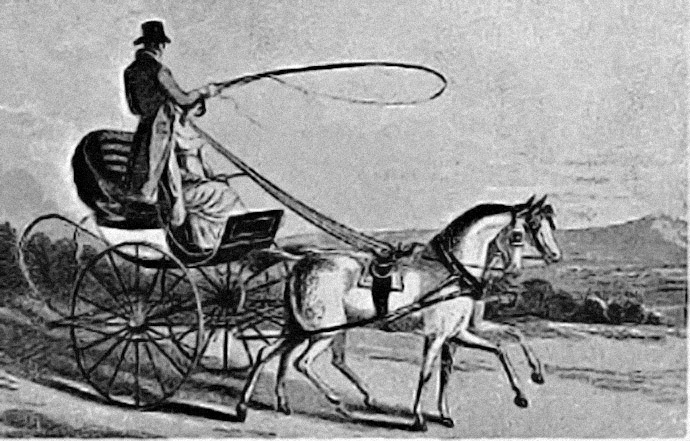 curricle open rijtuig 19e eeuw