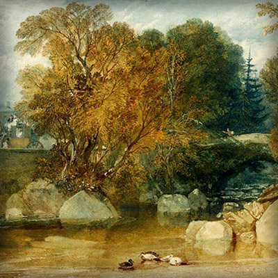 Ivy Bridge, Devonshire (circa 1813) door Joseph Mallord William Turner {Publiek domein].