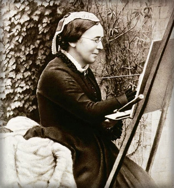 Fotoportret van Marianne North in 1886 [Publiek domein]