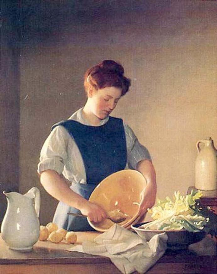 Victoriaans keukenmeisje